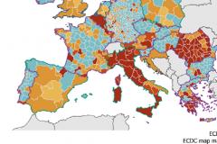 Počet případů spalniček na milion obyvatel v zemích EU/EHP za rok 2017:
